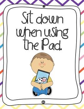 iPad Rules Posters (Bilingual)