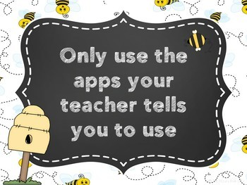 iPad Rules Posters (Bumblebee Themed)