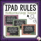 iPad Rules Posters (Chalkboard Bugs Themed)