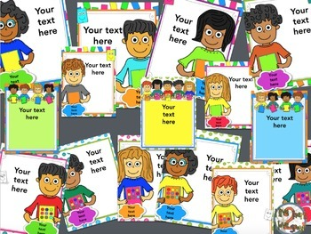iPad Class Rules Posters Editable- 44 Choices