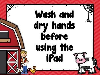 iPad Rules Posters (Farm Themed)