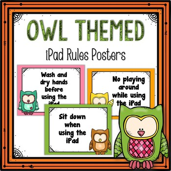 iPad Rules Posters (Owl Themed)