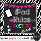 iPad Rules Posters (Zebra edition)