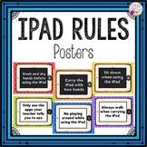 iPad Rules Posters (bright polka dots)