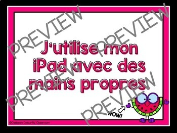 iPad Rules / Règles pour iPad Posters - FRENCH and ENGLISH