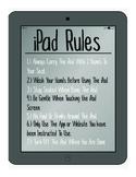 iPad Rules - Rules For Ipad Use In Classroom