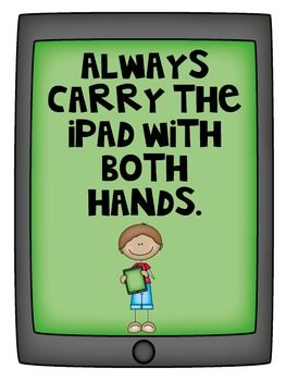 iPad Rules! Teaching Expectations for iPad Usage - Printable Posters