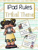 iPad Rules - Tribal Theme MINT, GOLD, NAVY