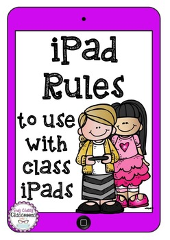 iPad Rules - Use with class sets of iPads