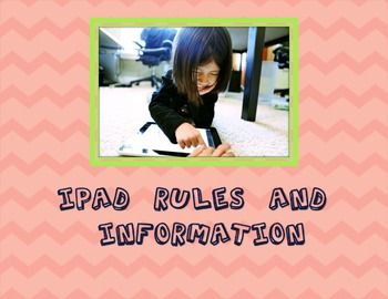 iPad Rules and Information Powerpoint-Editable FREE!
