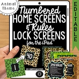 iPad Wallpaper Rules and Numbered Backgrounds:  Animal Print