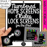 iPad Wallpaper Rules and Numbered Backgrounds:  Black & Bright Theme