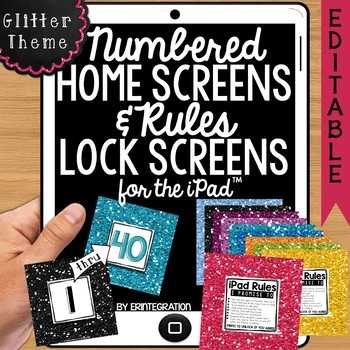 iPad Wallpaper Rules and Numbered Backgrounds:  Glitter Theme