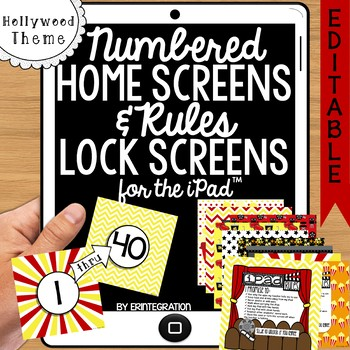 iPad Wallpaper Rules & Numbered Backgrounds: Hollywood Movie Theme