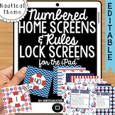iPad Wallpaper Rules and Numbered Backgrounds:  Nautical Theme
