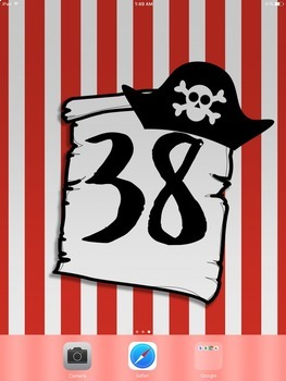 iPad Wallpaper with Editable Rules & Numbered Backgrounds:  Pirate Theme