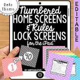 iPad Wallpaper Rules and Numbered Backgrounds:  Polka Dot Theme