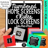 iPad Rules & Numbered Background Screen Images:  Chevron & Chalk