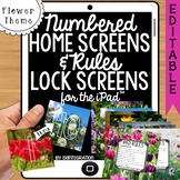 iPad Wallpaper Rules and Numbered Backgrounds:  Flower Theme