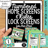 iPad Wallpaper Rules and Numbered Backgrounds: Turquoise D