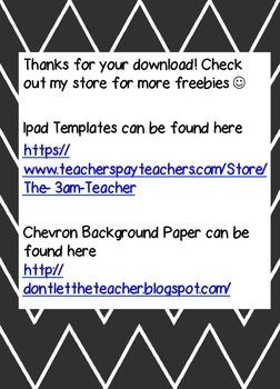 iPad Rules for Classroom Use (FREEBIE)