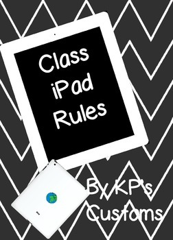 iPad Rules for Classroom Use (FREEBIE)