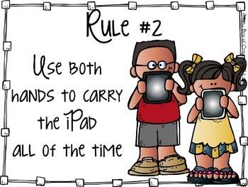iPad Rules for School *Editable*