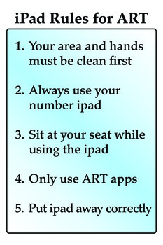 iPad Rules for the Art Classroom Download