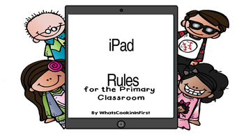 iPad Rules with Melonheadz- Editable and White