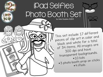 iPad Selfies Photo Booth Clip Art Set