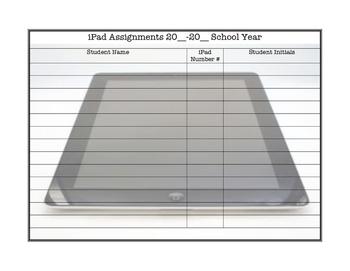 iPad Sign Up Sheet