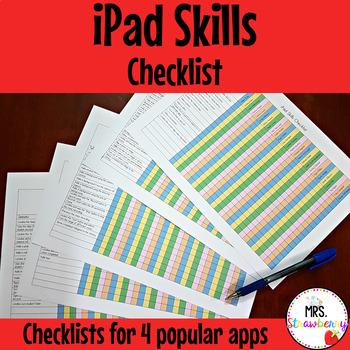 iPad Skills Checklists ** Editable **