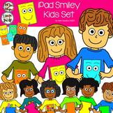 iPad Smiley Kids Clip Art Set