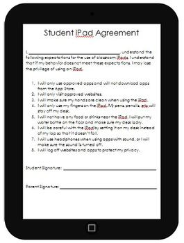 iPad / Tablet Agreement, Rules, and Tracker