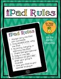 iPad / Tablet Rules