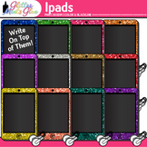 iPad Clip Art {Rainbow Tablet Devices for Technology Lessons and Computer Lab}