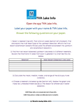 iPad Task Card for Decimals