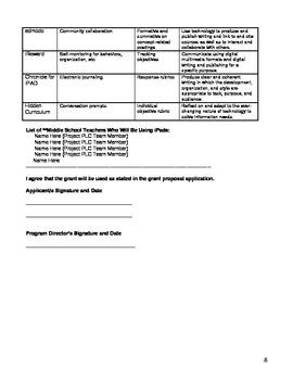 iPad Technology Grant Proposal