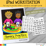 iPad Technology Workstation Letters | Numbers | and Sight Word Fluency