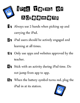 iPad Terms of Agreement Poster