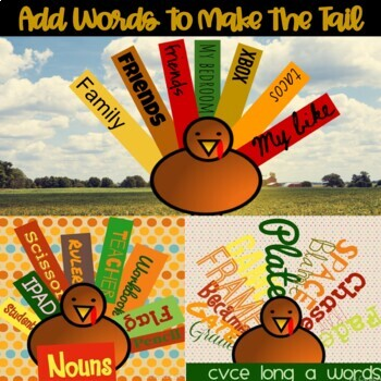 iPad Thanksgiving Word Study Task Cards