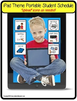iPad Theme Portable Student Schedule for Autism