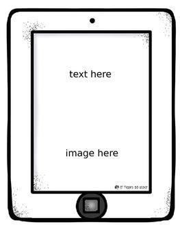 iPad Themed - Editable Classroom Labels