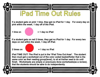 iPad Time Out Poster