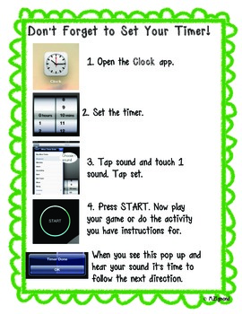 iPad Timer Instructions for Students
