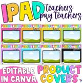 iPad Tpt Product Cover Template | Editable, Rainbow Edition