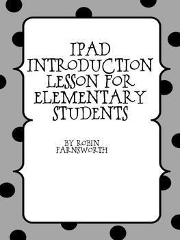 iPad Training Program Initial Lesson