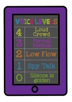 iPad Voice Level Chart - Purple
