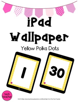 iPad Wallpaper Background: Yellow Polka Dot