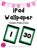 iPad Wallpaper Background: Green Polka Dot